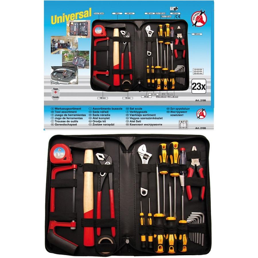 kit 23 utensili ass.in custodia - codice BGS2199