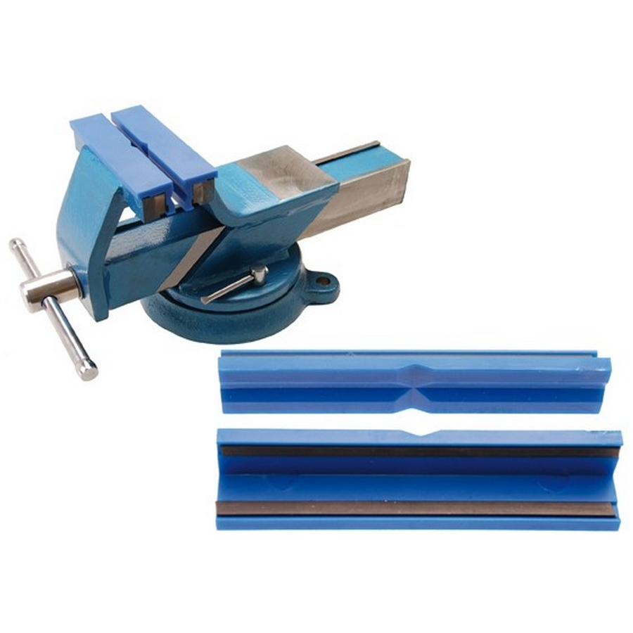 2-piece bench vise jaw protector 125 mm - code BGS3046