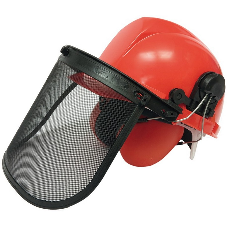 safety helmet with visor and ear protection - code BGS3641