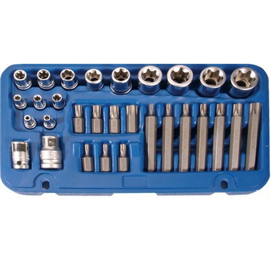 30-piece t-star bit & e-type socket set - code BGS5025