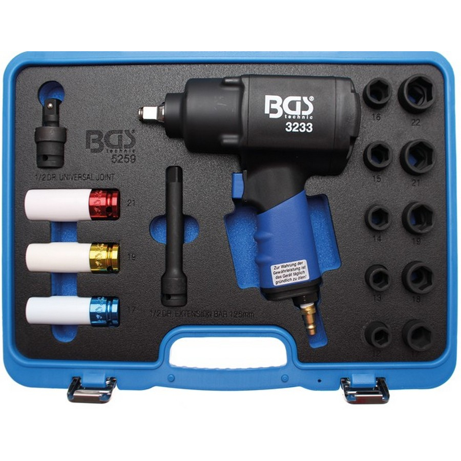 16-piece air impact wrench set 1/2