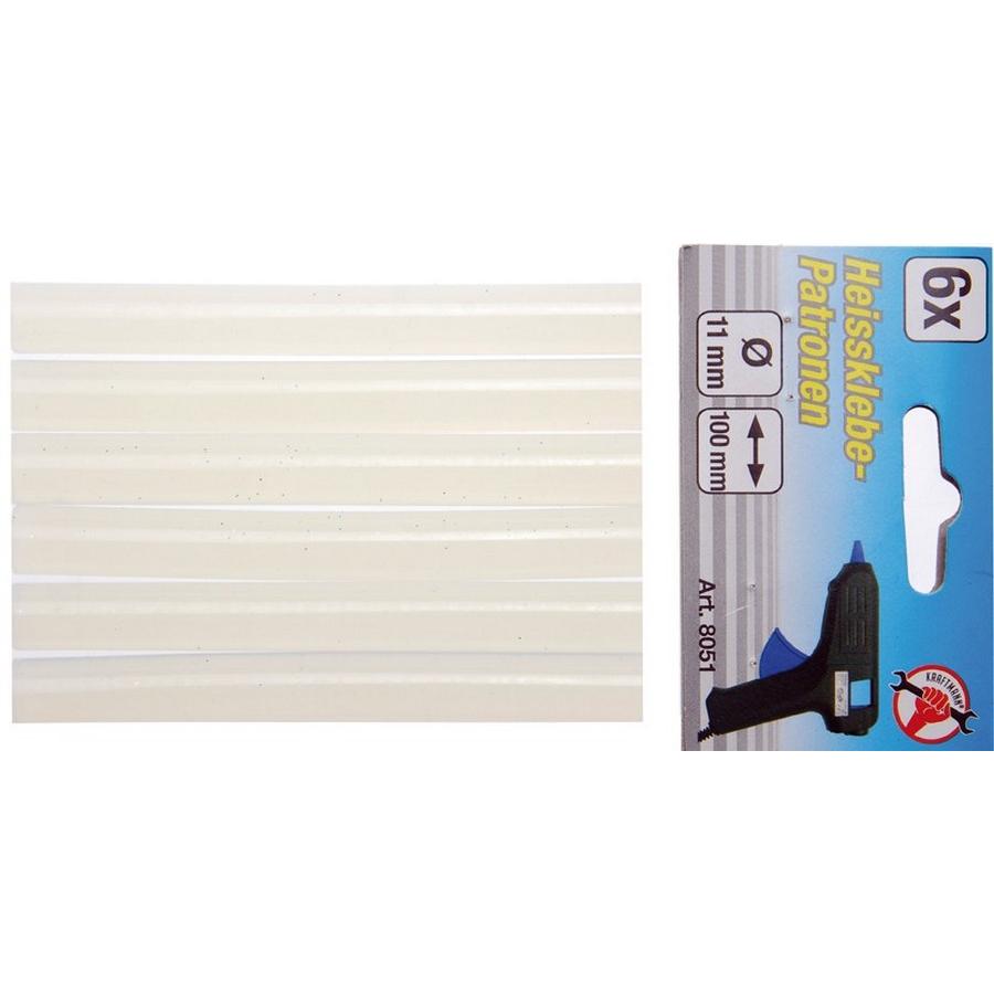 glue sticks 6 pieces 11x100 mm - code BGS8051