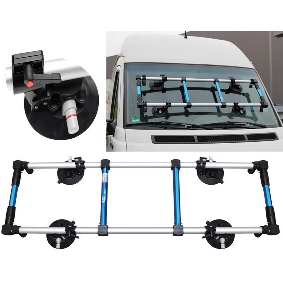 windshield installation frame with swivable suckers - code BGS8817