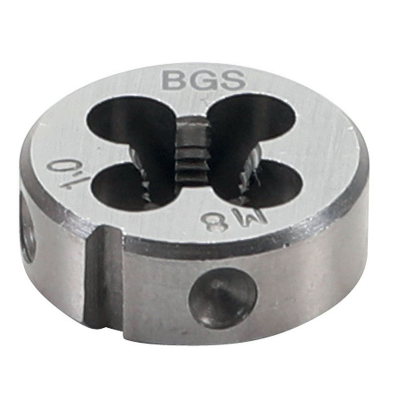 Threading Die M8 x 1.25 x 25mm - Code BGS1900-M8X1.25-S
