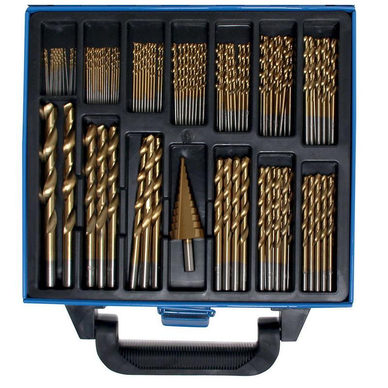 Set 119pz Punte E Fresa A Grad.,Riv.Al Tin 1-10mm - Codice BGS2009