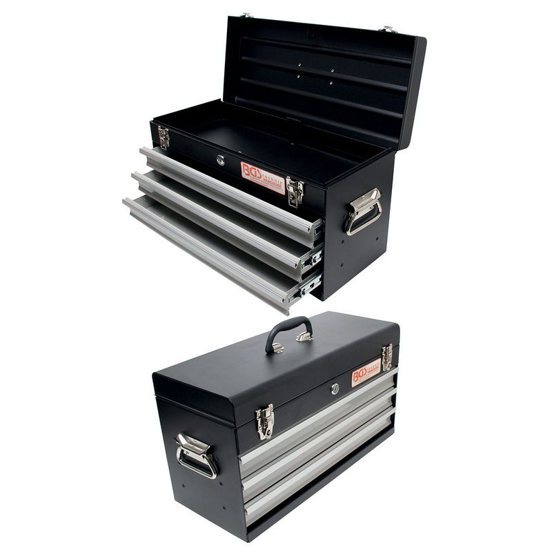 Metal Tool Box empty 3 Drawers - Code BGS3312