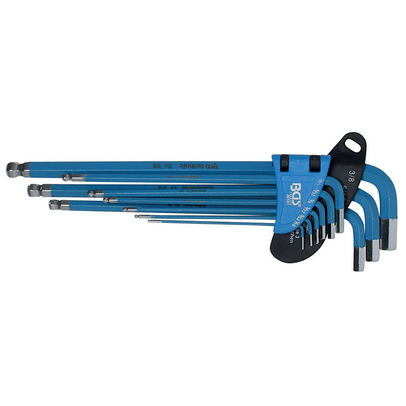 Hex Key Set 9pcs Magnetic Imperial Size - Code BGS35101