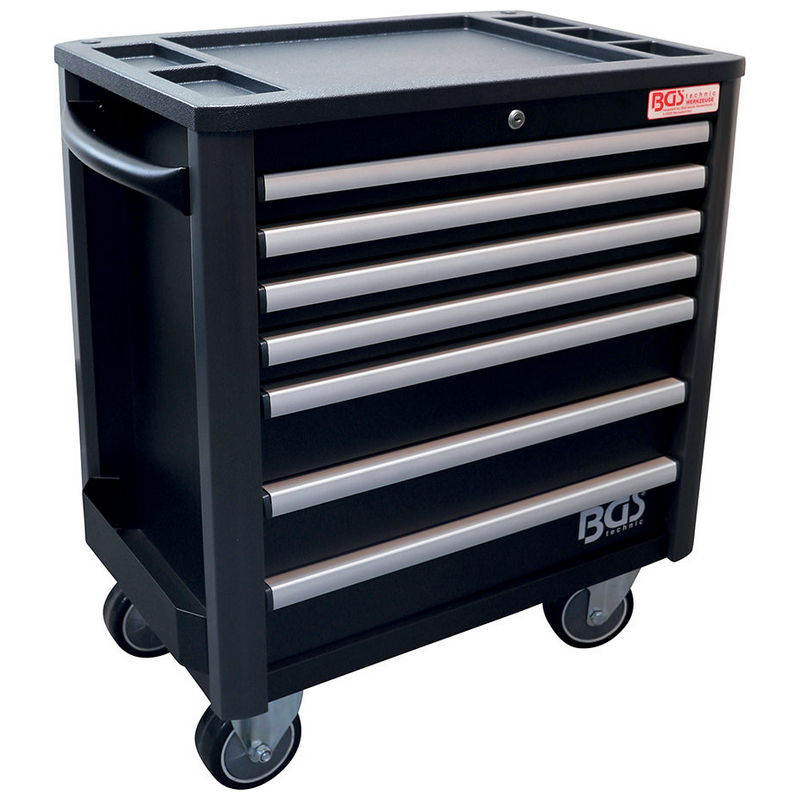 Workshop Trolley 7 Drawers extra low total Height empty - Code BGS4102