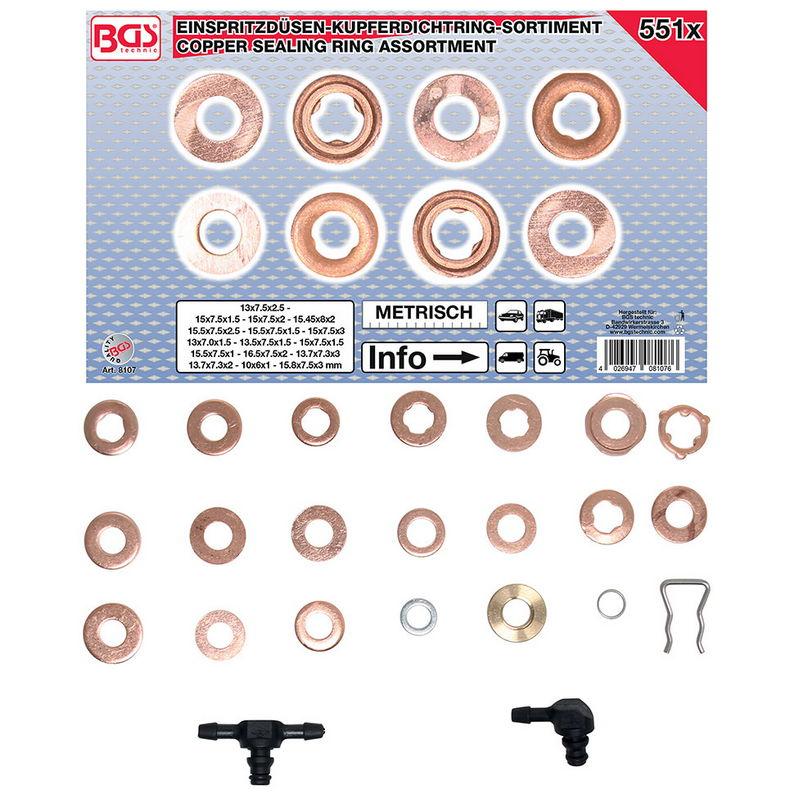 Kit 551pz Rondelle E Accessori Parafiamma - Codice BGS8107