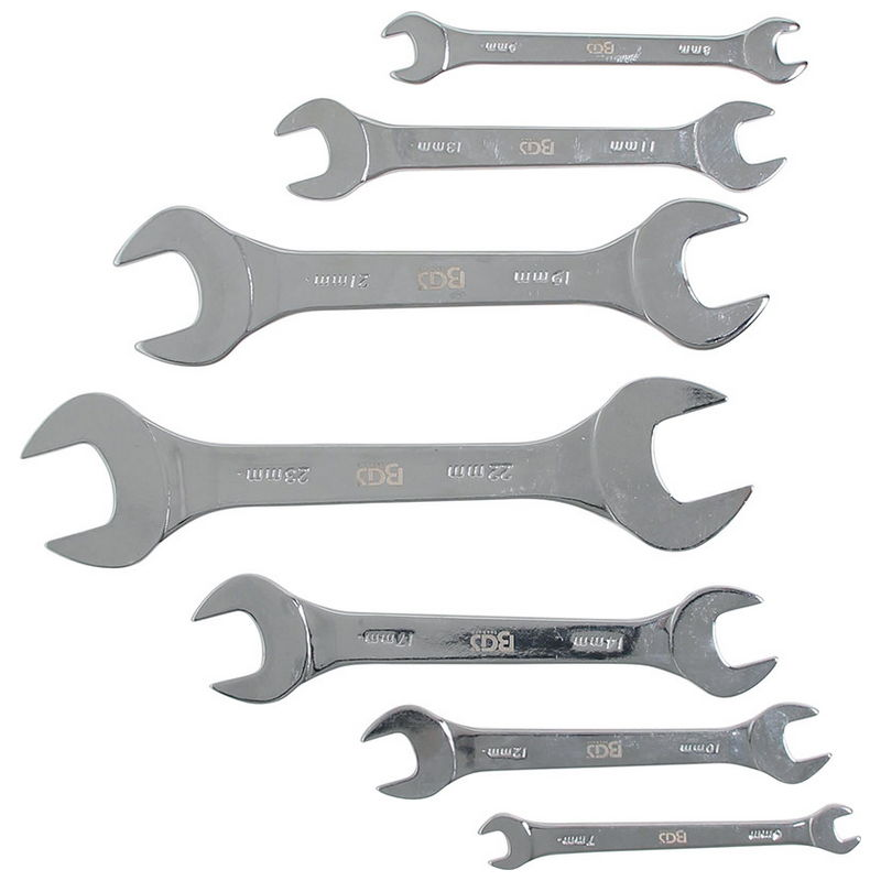 Double Open End Spanner Set extra flat 6 - 23mm 7pcs - Code BGS9019