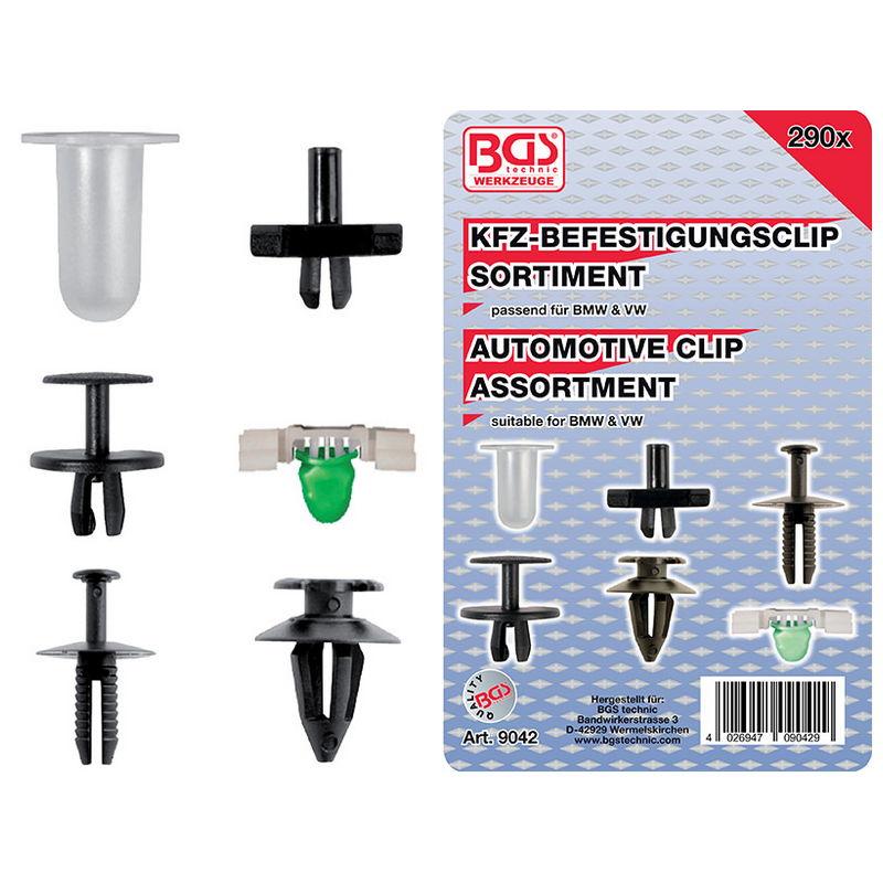 Assortimento 290pz Clip Per Automotive - Codice BGS9042