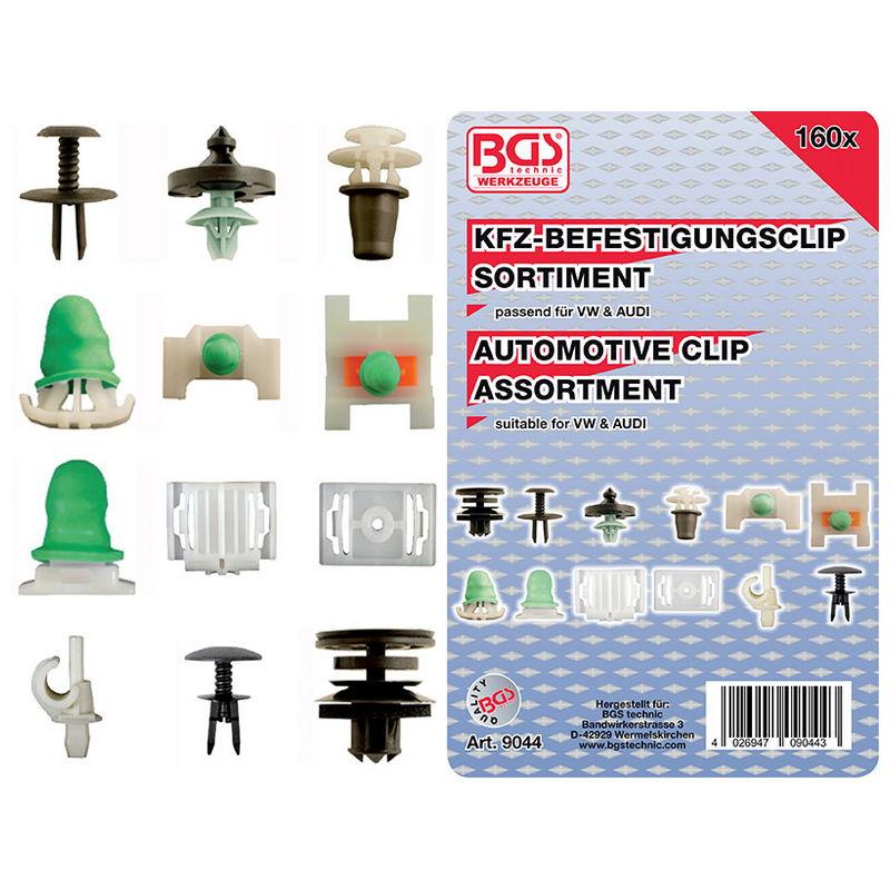 Automotive Clip Assortment for Audi VW 160pcs - Code BGS9044