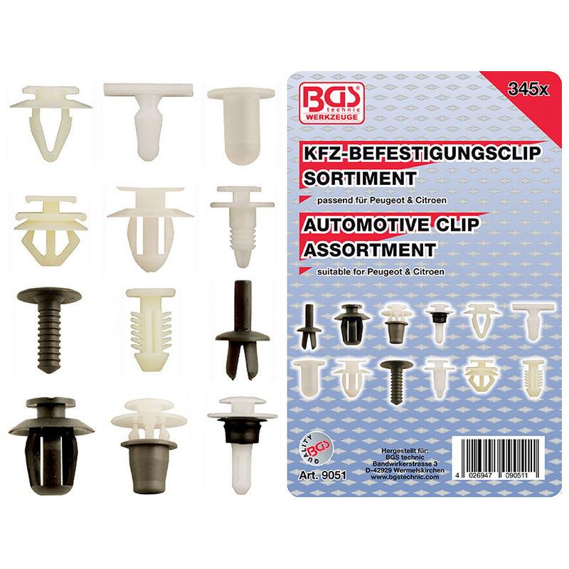 Assortimento 345pz Clip Per Automotive - Codice BGS9051