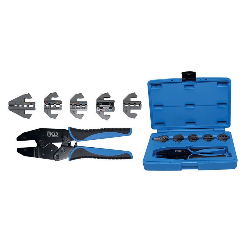 Crimping Tool Set with 5 Pairs of Jaws - Code BGS9098