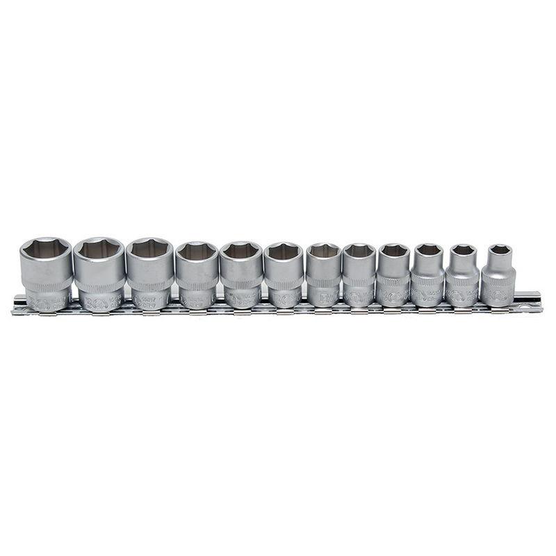 Socket Set Hexagon 10mm (3/8'') drive 8 - 19mm 12pcs - Code BGS9104