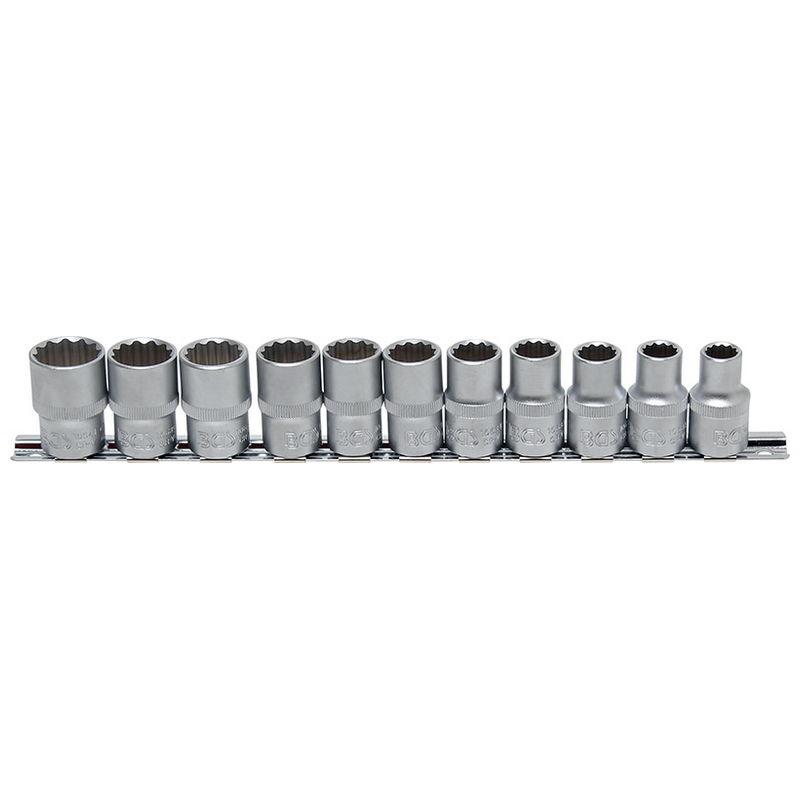Socket Set 12-point 12.5mm (1/2'') drive 10 - 21mm 11pcs - Code BGS9107