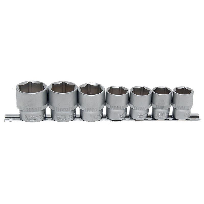 Socket Set Hexagon 12.5mm (1/2'') drive 20 - 32mm 7pcs - Code BGS9108