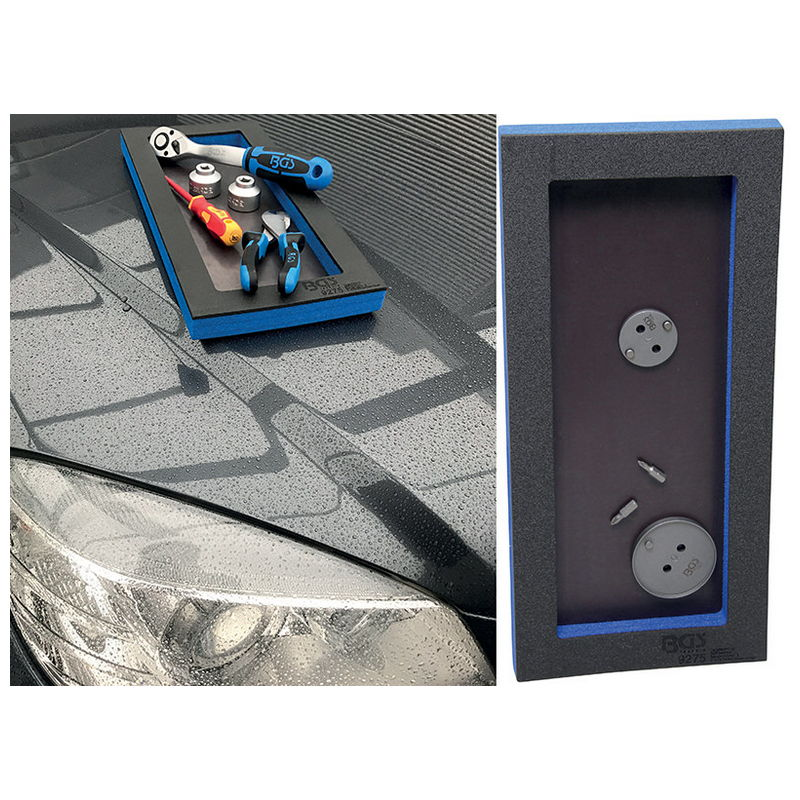 Tool Tray 1/3: Storage Tray with Magnetic Bottom Plate 129 x 348 x 14mm - Code BGS9275