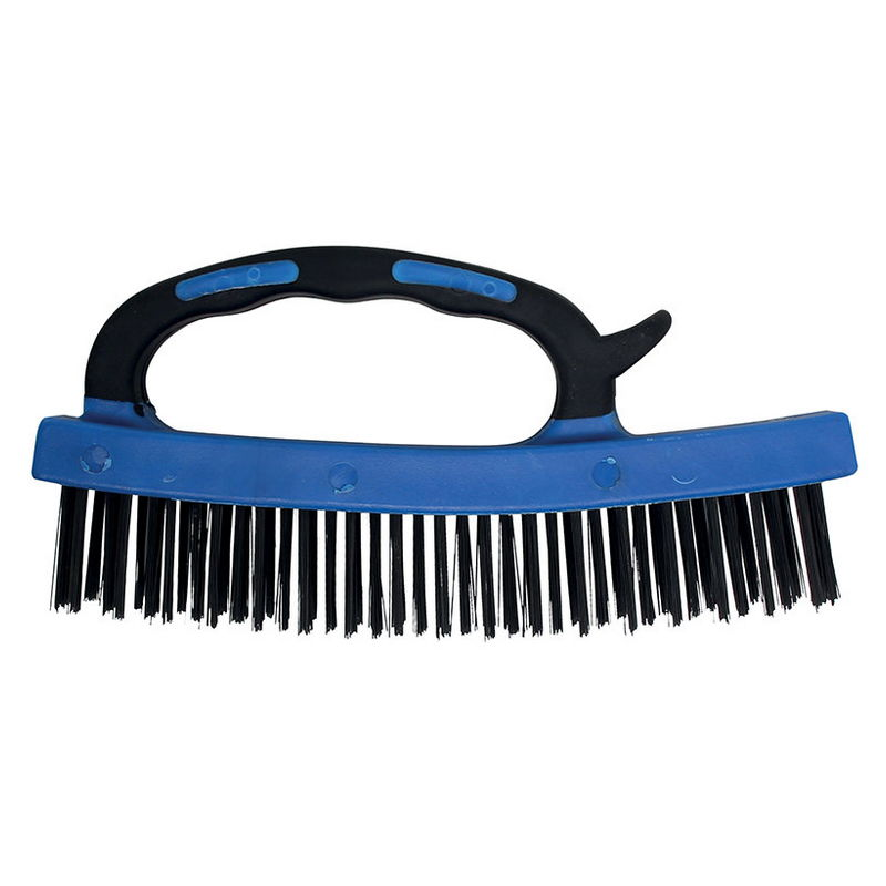 Steel Wire Brush with Plastic Handle 172mm - Code BGS9315
