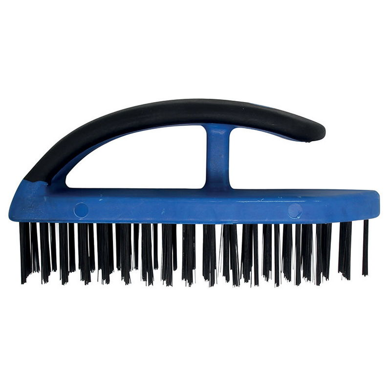 Steel Wire Brush with Plastic Handle 172mm - Code BGS9317