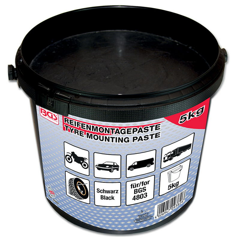 Tyre Fitting Grease For Run Flat Tyres blue 5 kg bucket - Code BGS9383