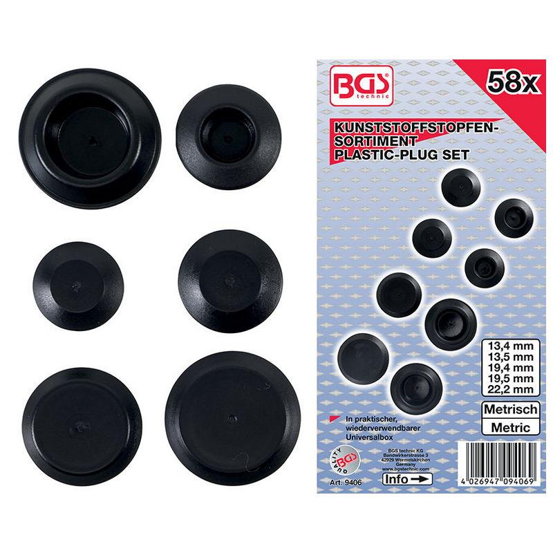 Assortimento 58pz Tappi In Plastica - Codice BGS9406