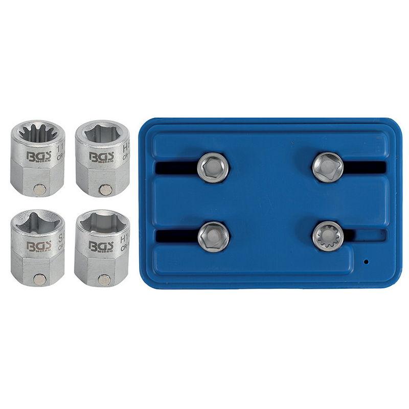 Pentagon Socket Set 12mm drive 4pcs - Code BGS9412