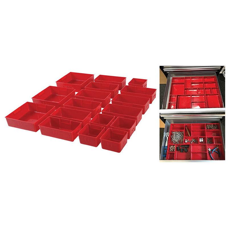 Plastic Strorage Trays for Workshop Trolley 17pcs - Code BGS9550