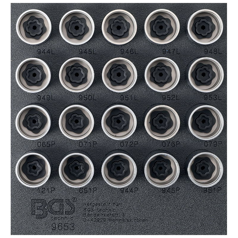 Set Di Utensili Per Serratura Cerchioni Per Volvo - Codice BGS9653